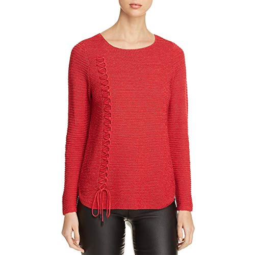 (NIC+ZOE Women's Braided Up Top True Red X-Large)