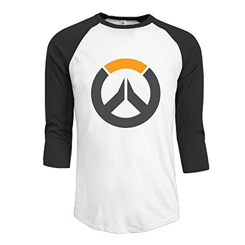 Mens OW Overwatch Logo 3/4 Sleeve Raglan T Baseball T Shirt