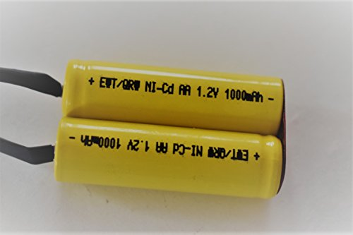 Shaver Battery Upgrade Pack   2 4V Aa 1000 Mah Nicd With Solder Tabs   Fits Most Norelco And Remington Models By Ceba Qrw