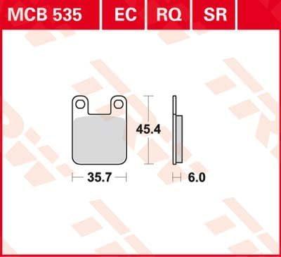 Lucas EC-Bremsbelag HINTEN Aprilia 50 RS-4 2011 ABE