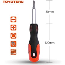 All-In-One 6-Way Screwdriver Multi-Bit Drivers - Multipurpose Screwdriver Tool for Home Repair, Apartment, Car. Multi Tool Kit with Manganese Steel Springy-Ball