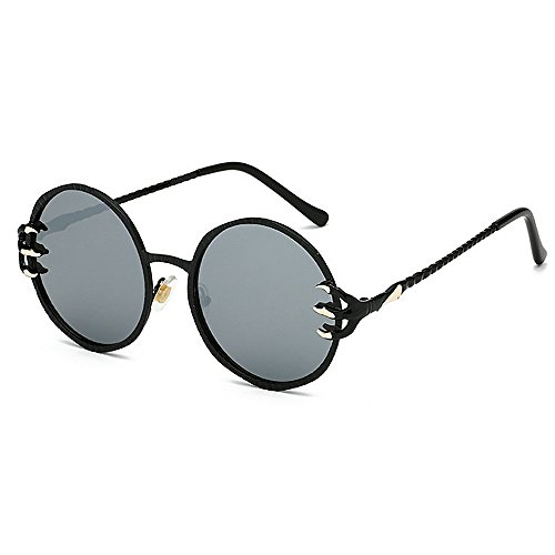 Frame mujeres sol de redondo Gafas Protección para conducir Punk gafas lente Metal de Gafas Wolves y Style Garra sol para Cool UV Retro hombres retro Unisex PC Gris Decoración esqu de Viajar sol de Gafas aOFz0