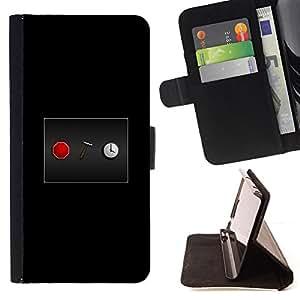KingStore / Leather Etui en cuir / Apple Iphone 5C / Stop The Clock