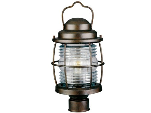 Kenroy Outdoor Lighting (Kenroy Home 90956GC  Beacon Post Lantern, Blackened Gilded Copper Finish)
