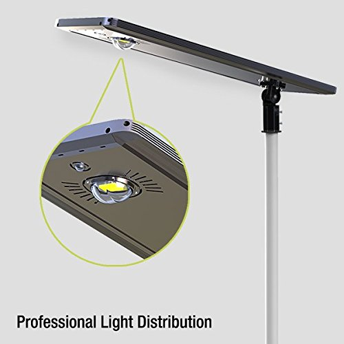 40W Superior Solar/Hybrid Energy Efficient LED Ultra-Powerful Self-Contained Smart Commercial Residential Lighting w/ Mounting System for Building Parking lots Bike Path Street (40)