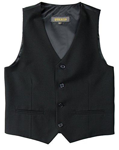 Spring Notion Big Boys' Two Button Suit 12 Black Vest