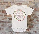 Worth The Wait Wreath Onesie®, Rainbow Baby Onesie, Reveal Onesie, Fall Onesie, Funny Onesie, Cute Onesie, Boho Baby Onesie