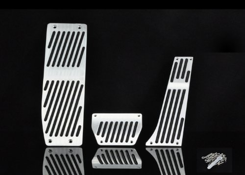 Alloy Pedal Set (Liquor Car New For BMW E46,E90,E92,E93,E87,1Series,3Series AT Aluminium alloy Accelerator Brake Clutch Pad Gas Petrol Foot Rest Pedal)