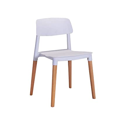 Wooden stool - home Modern Leisure Simple Solid Wood Dining Chair Household Study Armchair Negotiate Tables  sc 1 st  Amazon.com & Amazon.com: Wooden stool - home Modern Leisure Simple Solid Wood ...