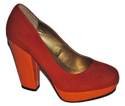 2 Chic Orange Platform Pierre Dumas Womens Pump qE8tOTF