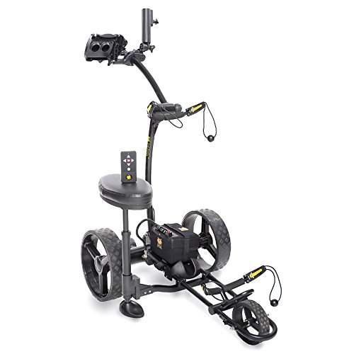 Bat-Caddy X4R Sport Remote Control Cart w Free Accessory Kit, 35Ah, Black