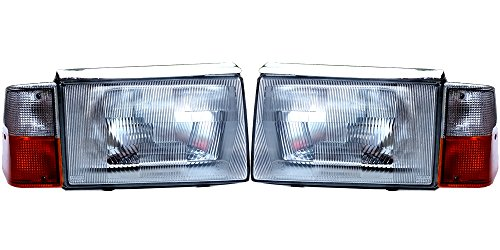 Conversion Set 86 (Volvo 240 244 86-93 European E Code Glass Conversion Headlight Assembly Set)