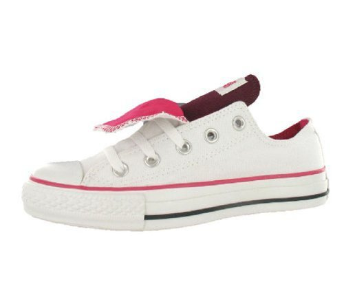 Converse Casual Unisex Adulti (White, Maroon, Berry)