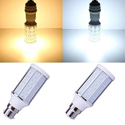 B22 10W Warm White/White 120 SMD 3014 220-240V LED Corn Light Bulb.