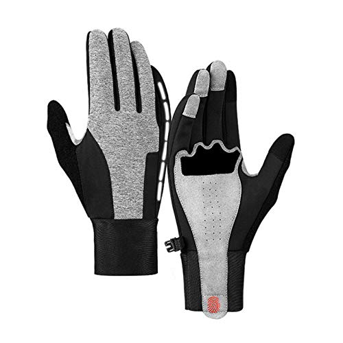 Motorcycle Riding Warm Gloves Waterproof Full Finger Touch Screen Damping Non-Slip Outdoor Sports Windstopper Ski Gloves 2 S