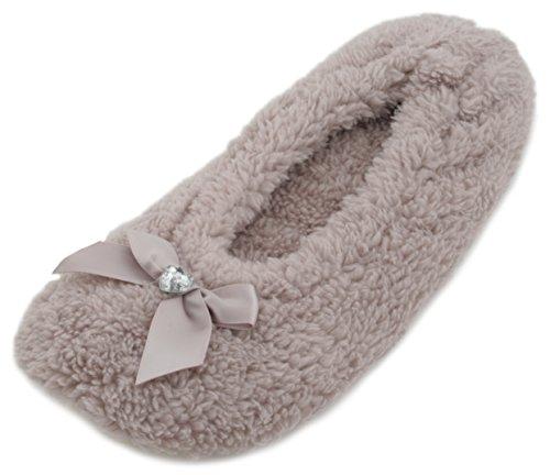 KS - Zapatillas de estar por casa para mujer marrón - Light Brown