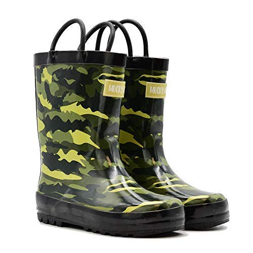 (Mucky Wear Children's Rubber Rain Boot, Army Camo, 12T US Toddler)