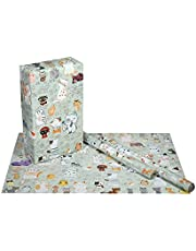 eVincE Cat kids birthday gift wrapping paper | Christmas New Year Halloween Cat lover Play date return gifts | theme party presents | 70 x 50 cms | 10 gift wraps