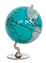 Turquoise & Sliver Globe of The World 5\