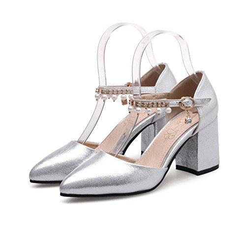 Femme Sandales 5 BalaMasa Compensées Argenté ASL05557 Silver 36 qr0q5wtxTH