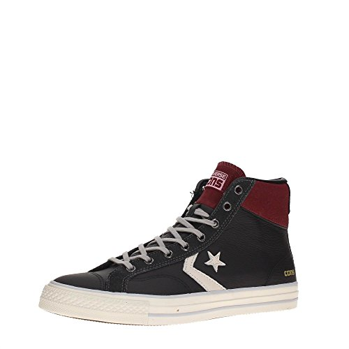 Sneaker Unisex Star Player Hi Leather Nera 155135CS - Converse , 41.5