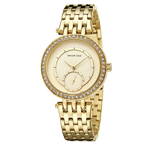 Fashion Rhinestone Lady Women Date Quartz Stainless Band Crystal Watches Wristwatches for Taylor Cole Gift