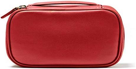 化粧ポーチ トイレタリーバッグポータブルミディアムハンドクラッチバッグトラベルストレージバッグコスメティックバッグ ウォッシュバッグ (色 : Red, Size : 22x7.8x11.8cm)