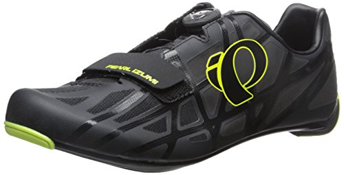 Pearl iZUMi Men's Race RD IV Cycling Shoe, Black/Lime Punch, 46 EU/11.5 D US