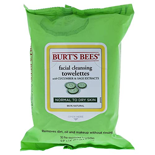 Burt's Bees Sensitive Facial Cleansing Towelettes with Cucumber and Sage - 30...