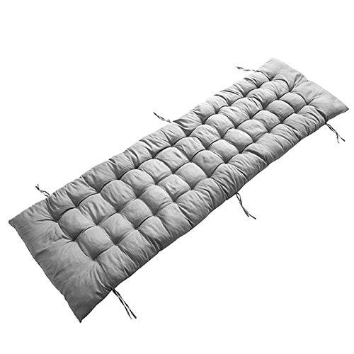 AuSHOP Sun Lounger Garden Furniture Patio Recliner Chairs Relaxer Pad Cushion (Grey) by AuSHOP
