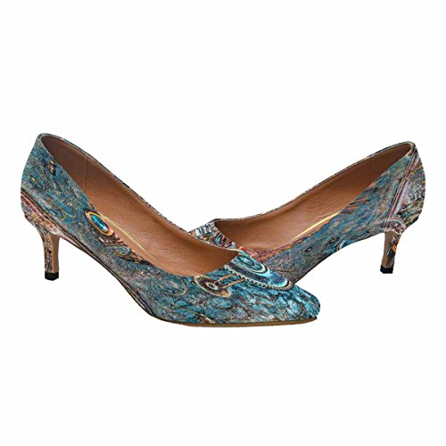 InterestPrint Womens Low Kitten Heel Pointed Toe Dress Pump Shoes The Panel Fish Made In Style Steampunk Multi 1 6GQAOpf