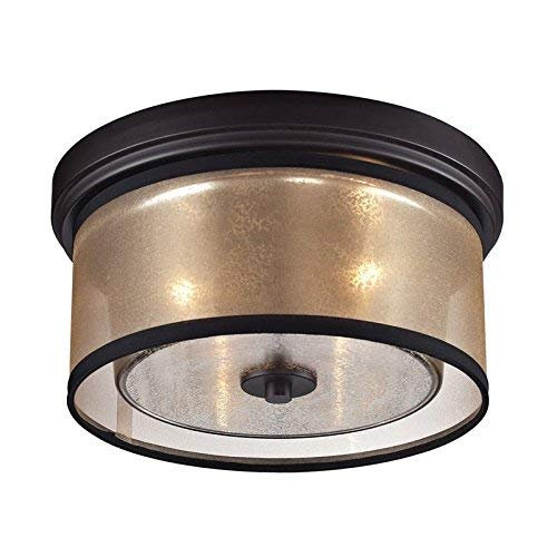 """ELK Lighting 57025/2 Diffusion Collection 2 Light Flush Mount, 6 x 13 x 13"""", Oil-Rubbed Bronze from ELK Lighting"""