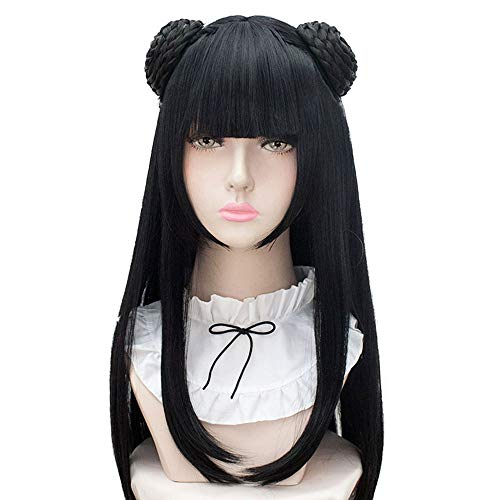 HSIU Mo Dao Zu Shi Jiang Yan Li Anime Cosplay wig Grandmaster of Demonic Cultivation Halloween play Costume party Women Ancient wig hair. (Jiang Yan Li)