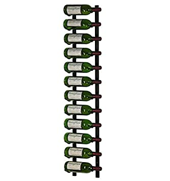 Vintageview Ws41 P 12 Bottle Wall Mounted Metal Hanging Wine Rack 4 Foot Brushed Nickel