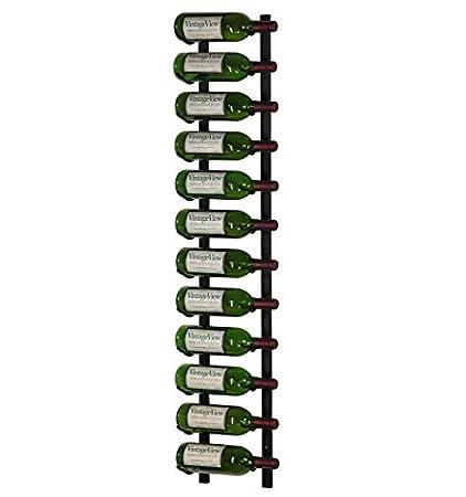 wall mounted metal wine rack. VintageView 12 Bottle Wall Mounted Metal Wine Rack (1 Deep - Black)