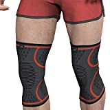 Modvel Compression Knee Sleeve (1 Pair) - Ultra Flexible, Knee Brace for Men and Women, Great for All Athletics, Volleyball, ACL, Stabilizer for Arthritis and Knee Pain Relief, XL. (MV-136-XL-OR)