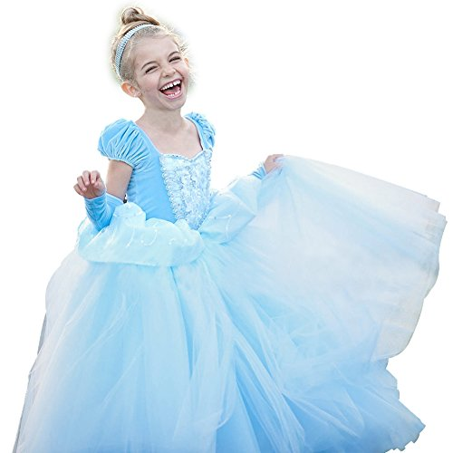 Cinderella Dress Princess Costume Party Dress 4-5y by CQDY (Image #1)