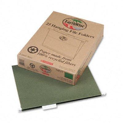 Recycled Hanging File Folders, Kraft, Letter, Natural, 25/
