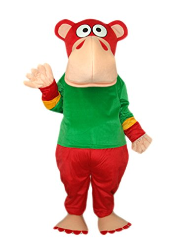 Green Gorilla Adult Costumes (MascotShows Super Cute Monkey Mascot Costume Adult Size (regular, red-green))