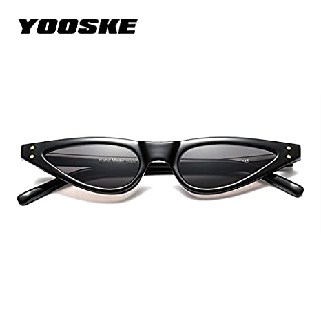 583e7dbdd334 YOOSKE Cat Eye Sunglasses Women Small Triangle Eyeglasses Vintage Stylish Cateye  Sun Glasses Female UV400 Glasses 2018 Gifts C2 Leopard  Amazon.in  Beauty