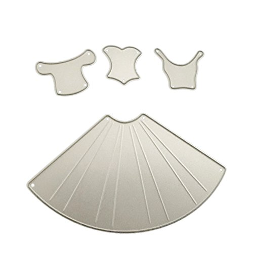 Nrpfell Princess Dress Build up Cutting Dies Craft Easter Die Cut Embossing Stamps New Stencils Template