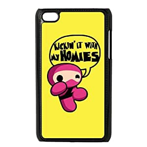 iPod Touch 4 Case Black Pink Ninja Humor Cussq