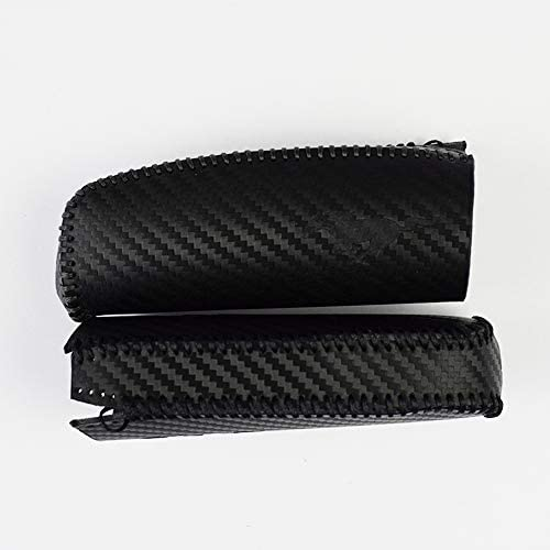 Black Line AIRSPEED Carbon Fiber Stripe Leather Car Handbrake Grip Sleeve Handle Cover for Ford Mustang Accessories
