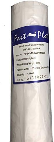 "FastPlot Static Cling White 6 Mil 15/"" x 10/'"