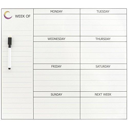 Yaze Magnet Weekly Magnetic Calendar for Refrigerator Wit...