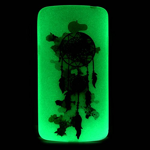 [Extremadamente Delgada] Funda 3D Silicona Transparent para LG K5 , Funda TPU Ultra Slim para LG K5 , TOCASO Case Fina Slim Fit Cristal Clear, Noctilucent Cover Glittering Bling Cute Pattern Colored P Campánula