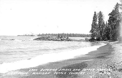 Copper Harbor Michigan Lake Superior Real Photo Antique Postcard K103604