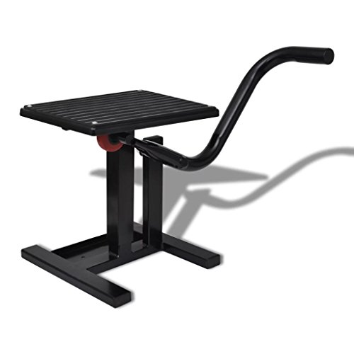 Professional Motorbike Lift Stand Black Lift Stand Motorcycle Lift Stand Material: Steel by LicongUS