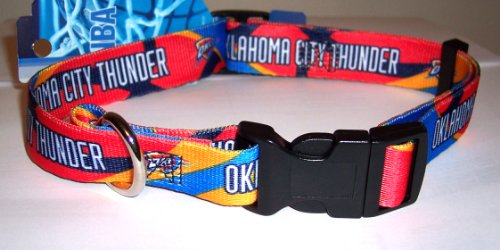"Oklahoma City Thunder Adjustable Dog Pet Collar Size Small 10""-14"""