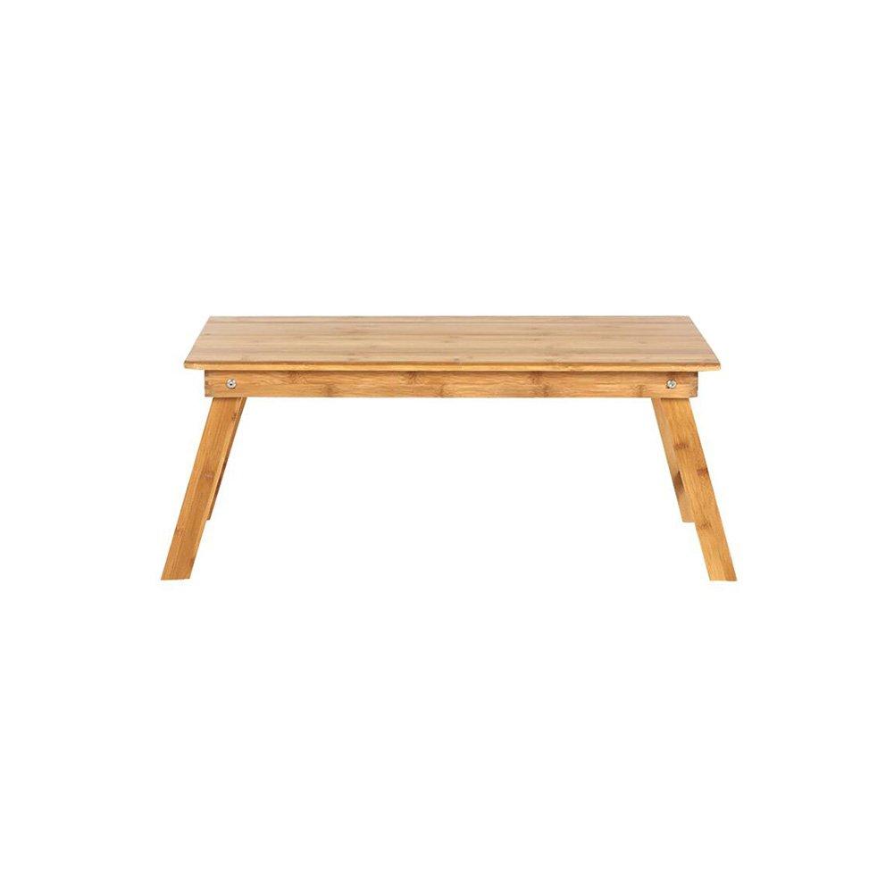 CJC テーブルチェアセット 机 竹 ラップトップ ベッド トレイ ナチュラル 表面 ホーム オフィス 折りたたみ 多機能 (色 : T1, サイズ さいず : 80x50cm) B07FXKFDVZ  T1 80x50cm